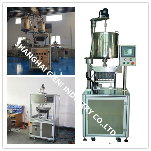 Semi - Auto Lip Balm Filling Machine With Human - Machine Interface , 12 Cavities Filling Machine