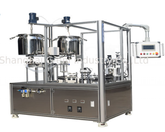 High Capacity Rotary Type Filling And Capping Machine For Mascara , Stainless Steel Materials