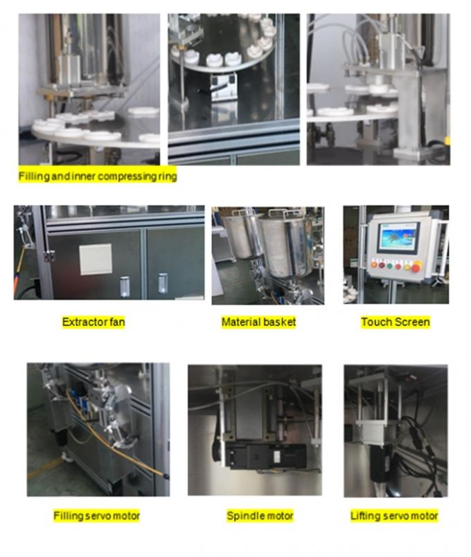 PLC Control Air Cushion CC Foundation Filling Machine with Servo Motor