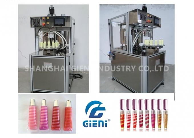 Maximum 110 Degree Tank Tempeerature Spiral Lip Gloss Filling Machine