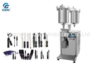 Stainless Steel Tank Mascara Filling Machine 14kw Power With Two Nozzles