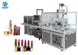 China 10 Nozzles Semi Automatic Lipbalm Filling Machine For Pearl Powder Materials, with Chilling Tunnel supplier