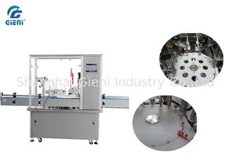 China Servo Motor Pneumatic Nail Polish Making Machine With Automatic Capper supplier
