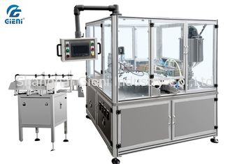 China PLC Control Full Automatic Lotion Filling Machine Rotary Type With Turn Table supplier