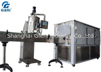 China Gear Pump Eyeliner Cream Lipstick Filling Machine with Cooling Tunnel supplier