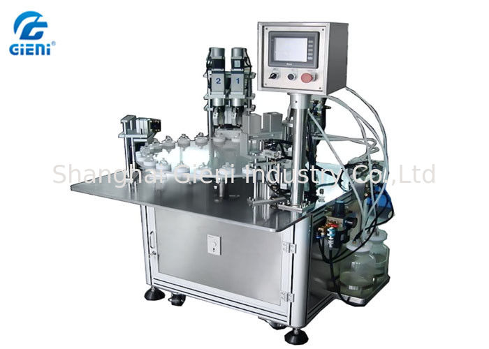Rotary Vacuum Liquid Cosmetic Filling Machine For Nail Polish And Perfume