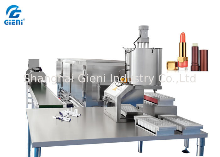 Hand Pour Type Lip Balm Filling Machine with 96 Cavities Per Mould