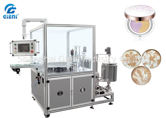 High Speed Cosmetic Filling Machine , Patterned Foundation Paste