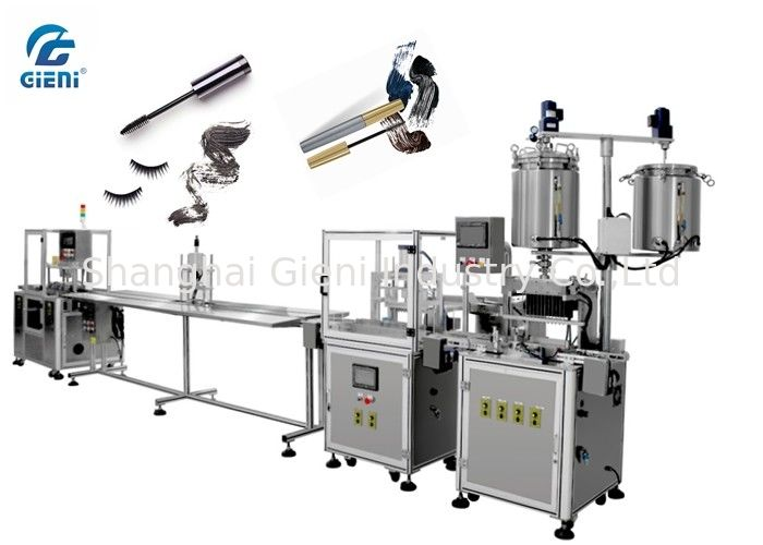 Electric Automated Filling Machine For Mascara / Lip Oil , 12 Pieces Each Time