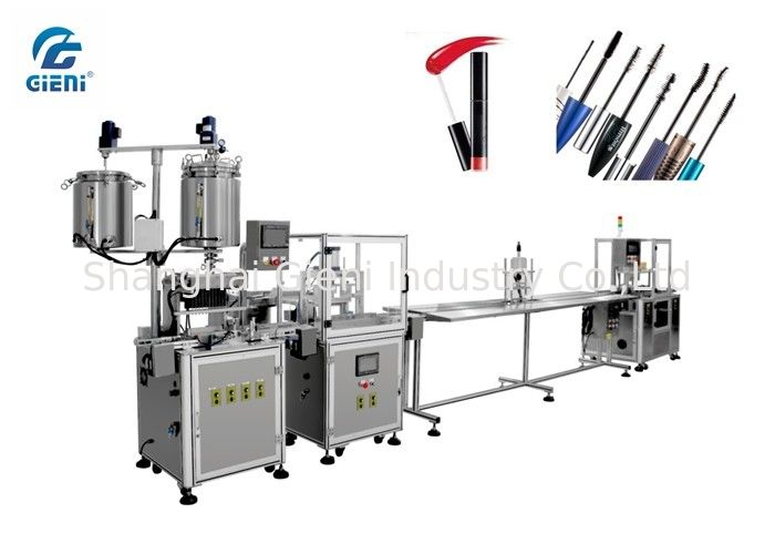 Glitter Material Lip Gloss Filling Machine With Servo Capping System