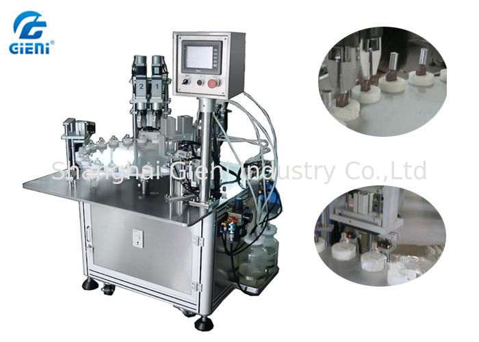 Two Nozzles Essential Oil Filling Machine 30 Bottles Per Minute , 3 Persons Operator