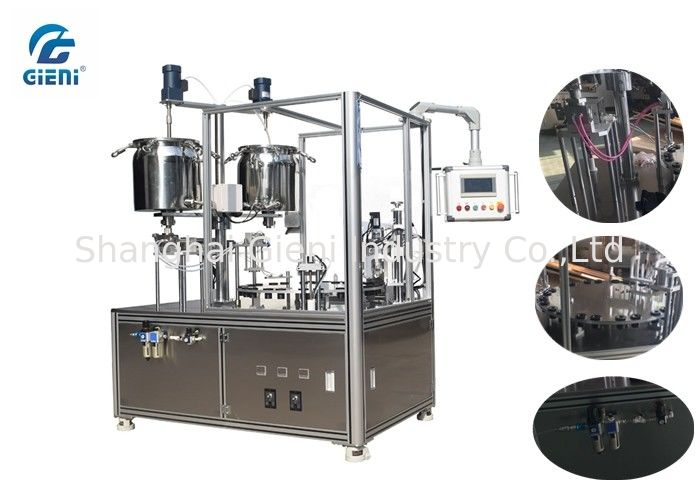 Piston Type Mascara Filling And Capping Machine AC220V With Lifting System