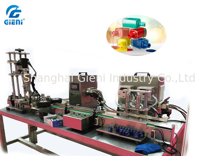 Peristaltic Pump Type Nail Polish Making Machine With Capping Air Source Driven