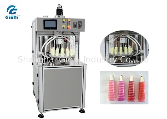 Rotary Type Lip Gloss Filling Machine Multi - Colors Lip Gloss