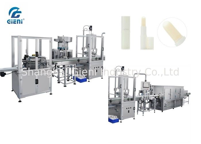 High Precision Lip Balm Filling Equipment With Cooler , 1 Year Warranty