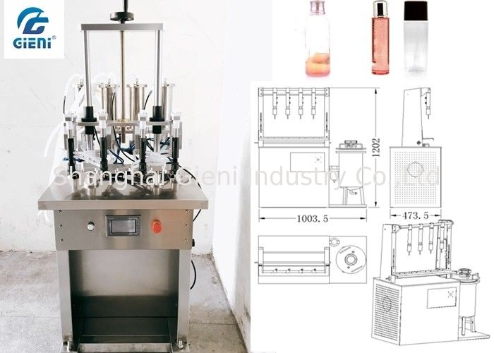 Water Based Material Toner Filling Machine For Glass Container