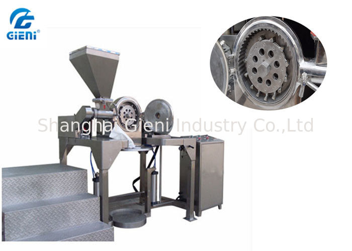 Screw Feeding Type Cosmetic Powder Crusher With 12 Hammers , Stainless Steel Material