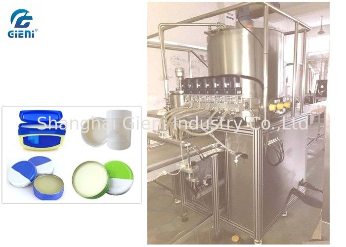 Customized Petrolatum Cream Filling Machine Six Nozzles Easy To Clean