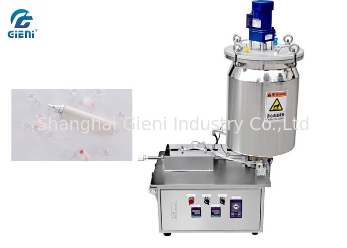 Semi - Auto Cosmetic Toner Filling Machine Air Source With Dual Layer Tank