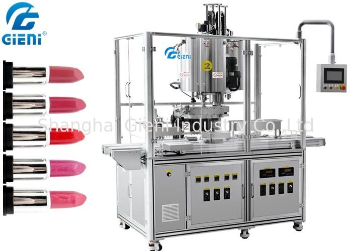10 Nozzles Automatic Silicone Mold Lipstick Making Machine With Heating Tanks