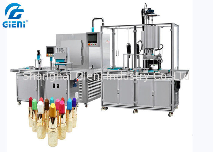 5 Nozzles Fully Silicone Cosmetic Filling Machine Lipstick Molding Machine With Cooling Tunnel