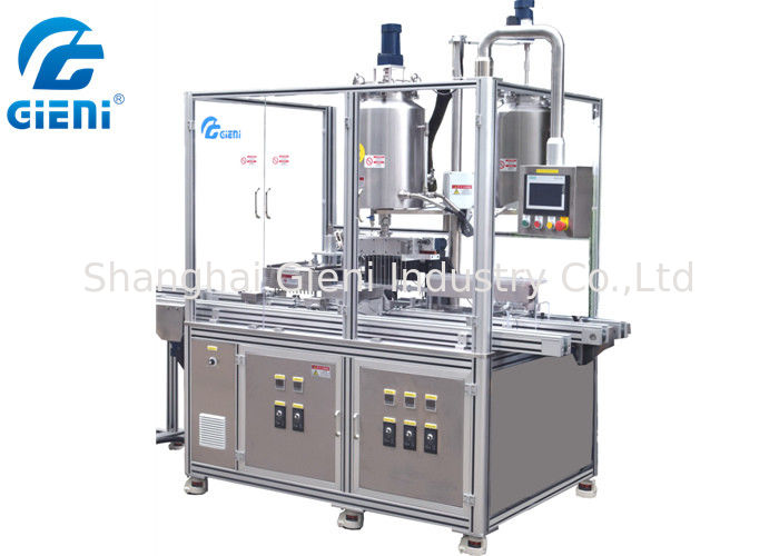 Automatic 12 Nozzles Cosemtic Filling Machine For Lipstick With Color Cover