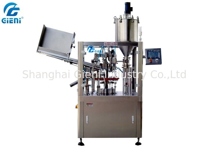 Servo Driven Semi Automatic Tube Filling And Sealing Machine For Makeup Cream