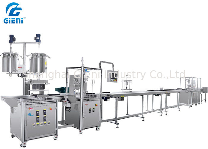 Automatic Mascara Filling Machine Linear Production Line With 12 Nozzles