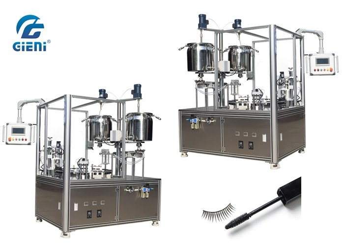 Mascara Brush Semi Automatic Filling Machine With Two Nozzels