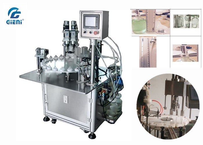 High Output Nail Polish Making Machine With Two Nozzles And Capping Machine