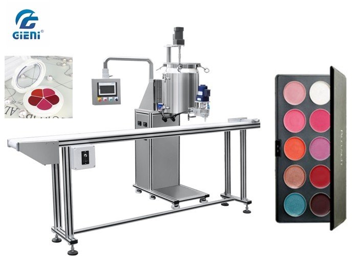 Pan Type Lipstick Filling Machine With Conveyor , No Pan No Filling , 40-60pcs/Min Capacity