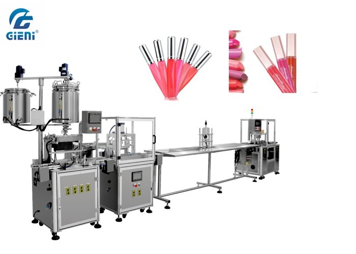 Static Filling Model Lip Oil Filling Machine 60~84pcs/Min For Different Containers