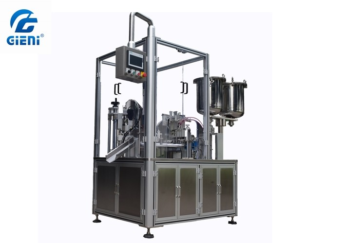 High Speed Rotary Color Cosmetic Automatic Filling And Capping Machine For Lip Gloss
