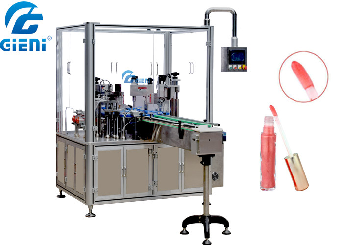Liquid Paste Material Cosmetic Filling Machine For Lip Gloss 1 - 100ml Filling Volume
