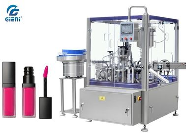 Piston Type Automatic Lip Gloss Filling Machine 1-30ml Volume With 1 Year Warranty