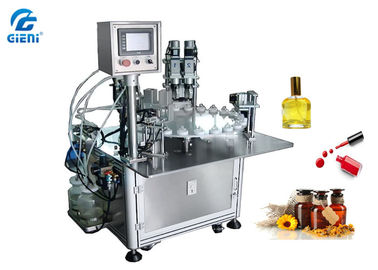 China Rotary Type Nail Polish Filling Machine PLC Control With 30 Bottles Per Minute factory