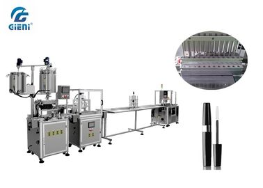 Linear Type 12 Nozzles Mascara Filling Machine With Servo Motor , 1-15ml Filling Range