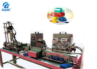 Desktop Peristaltic Pump Type Perfume Filling Machine With Capping , Air Source Driven