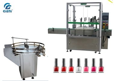 China Small Dose Automatic Nail Polish Filling Equipment 2 Nozzles With Turn Table factory