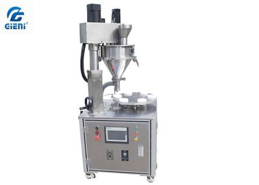Semi - Auto Screw Loose Powder Filling Machine JLF-2 Single Nozzle