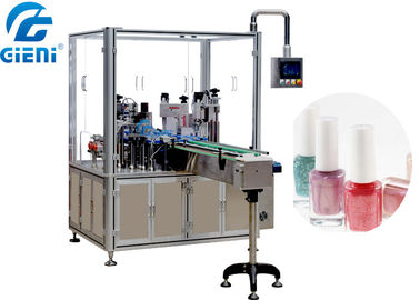 China Automatic Liquid Nail Polish Filling Equipment PLC And Touch Screen Control factory