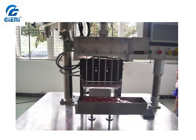 6 Cavities Pen Type Lipstick Filling Machine With Two 20L Material Tank